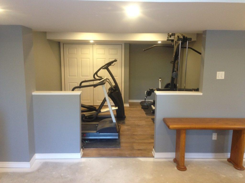 Basement Gym renovations